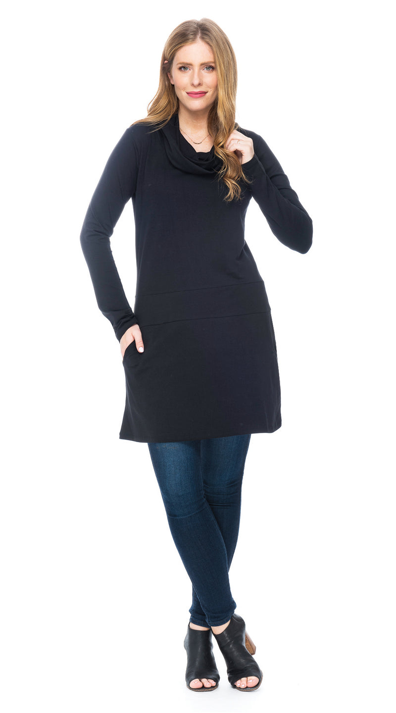 Sophia Tunic - black - organic cotton