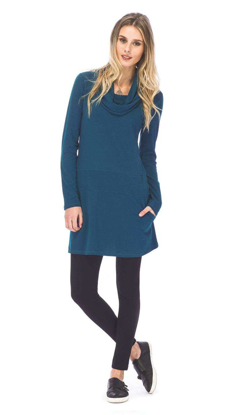 Sophia Tunic - deep teal - organic cotton