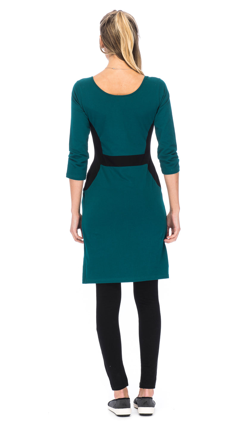 Matrix Dress - peacock - organic cotton
