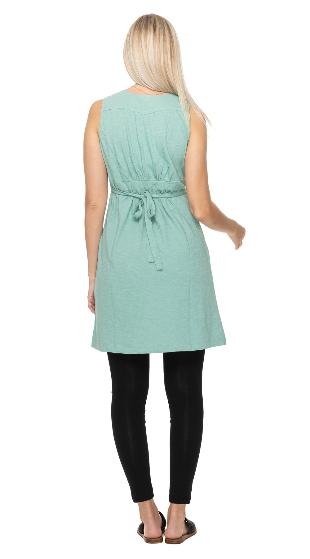 Soleil Dress - wasabi - organic cotton