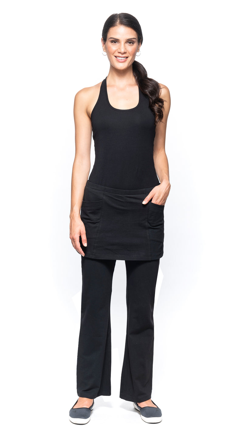 Skirted Pants - black - organic cotton