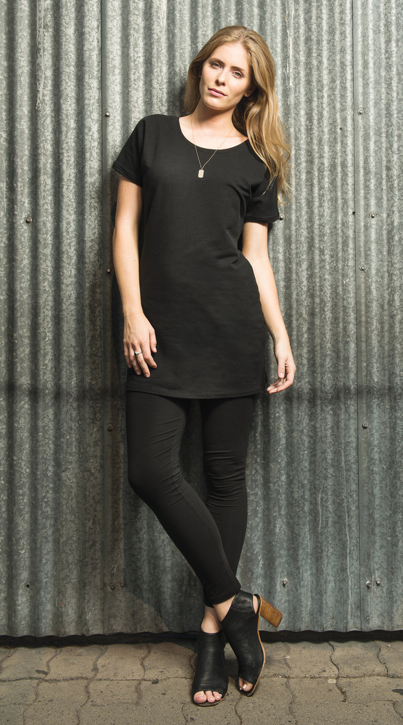 Demi Tunic - organic French terry - black