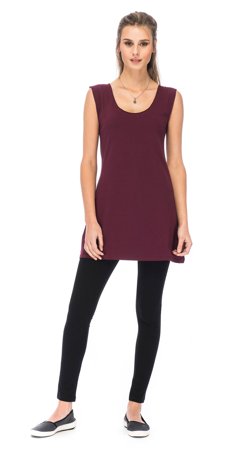 Beau Tunic - wine - organic cotton