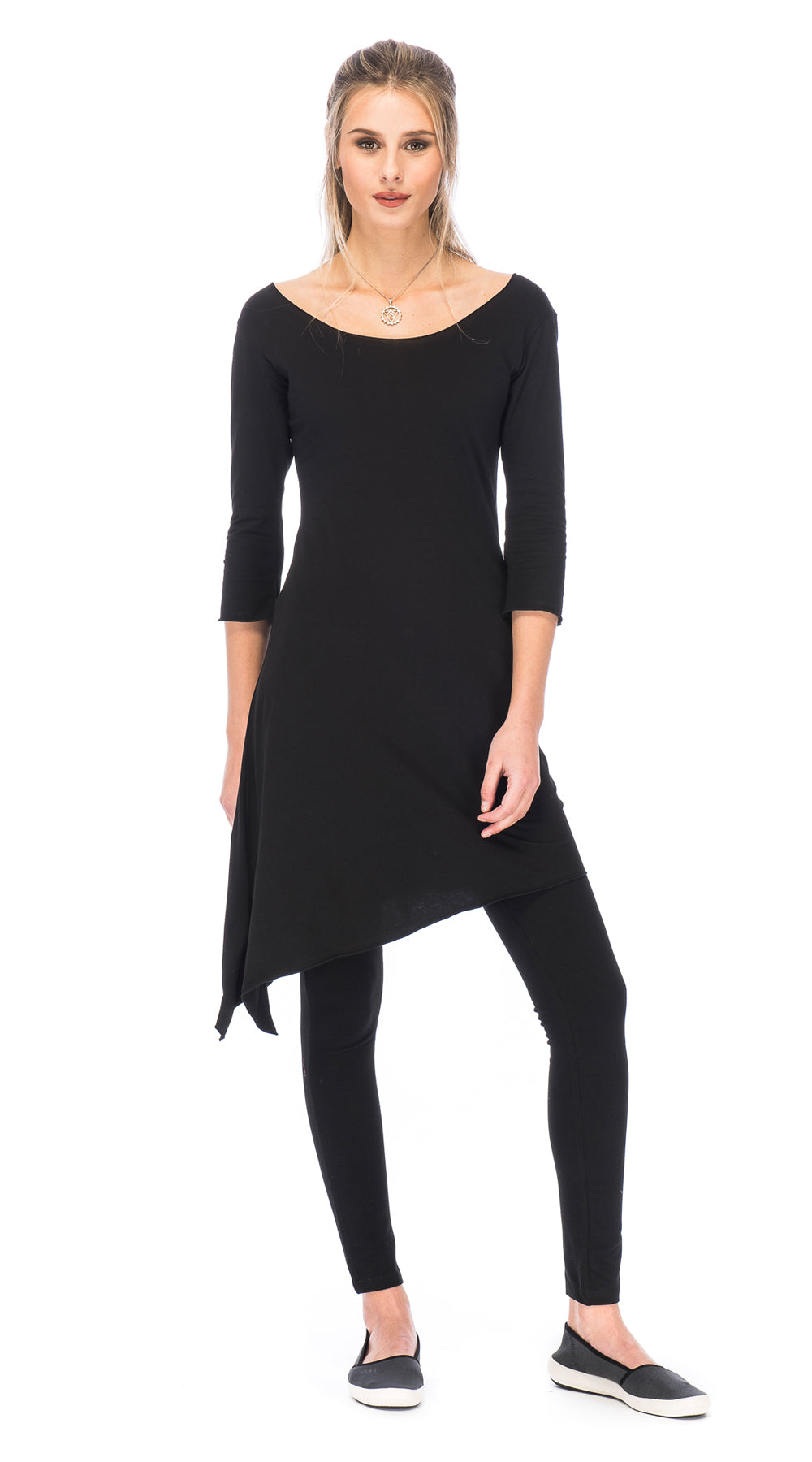Shayla Dress - black - organic cotton