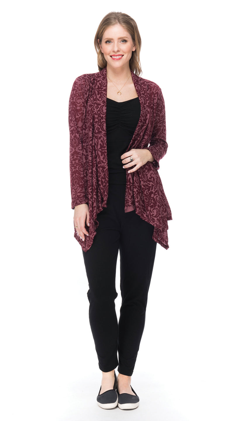 Burnout Iris Jacket - maroon