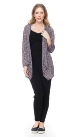 Burnout Iris Jacket - plum paisley