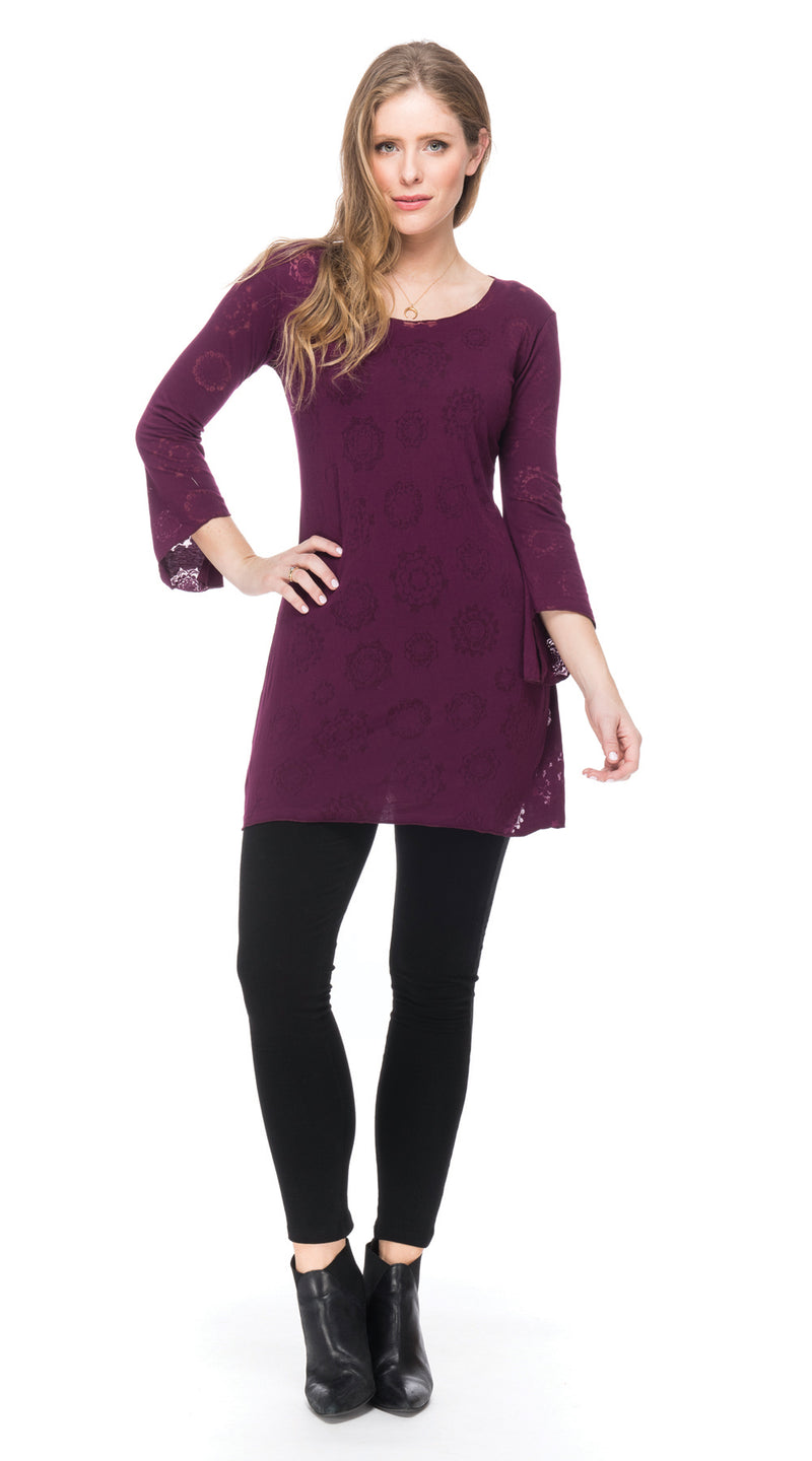 Burnout Amy Tunic - plum