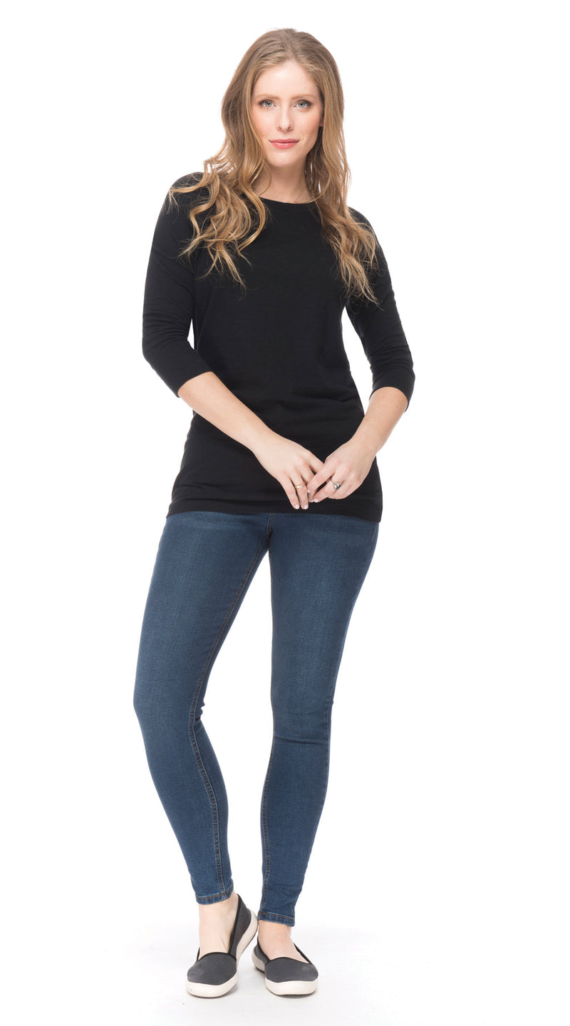 Dalia Top - black - organic cotton