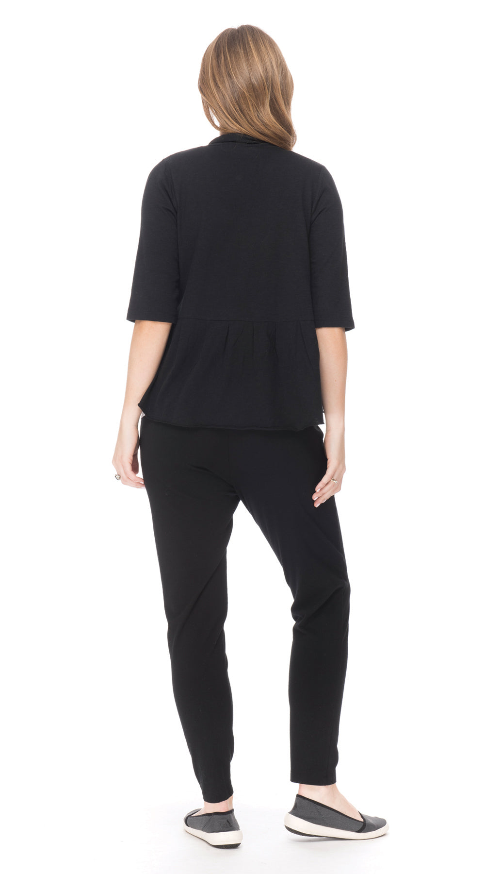 Bolero (half sleeve) - black - org.cotton