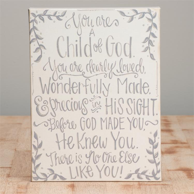 You Are A Child Of God Canvas - Small