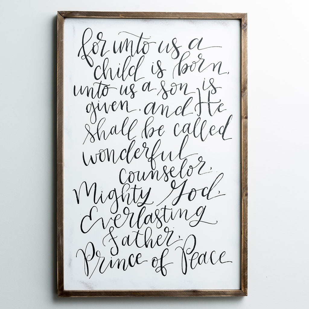 For Unto Us a Child Is Born - Framed Wall Art