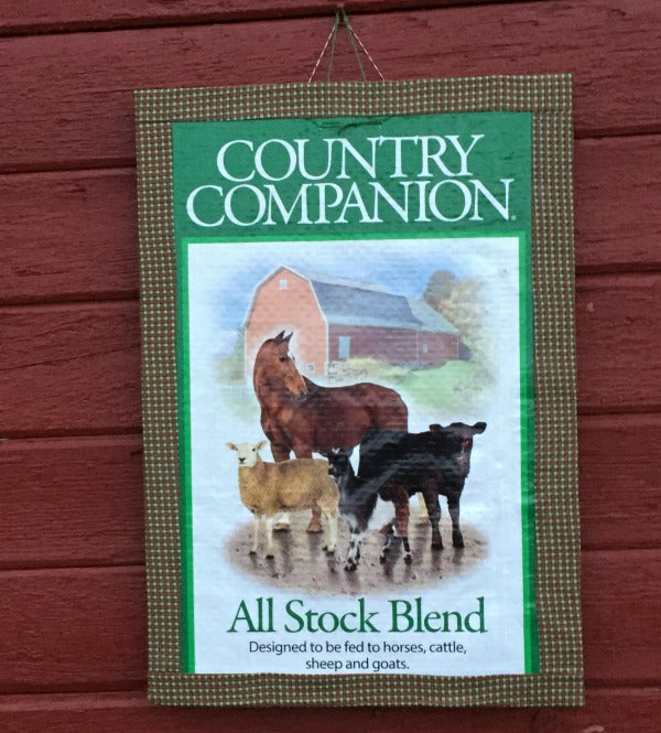 Feed Sack Bulletin Board Country Classic