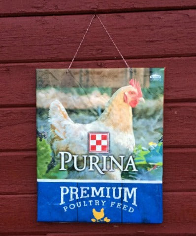 Feed Sack Bulletin Board - Purina
