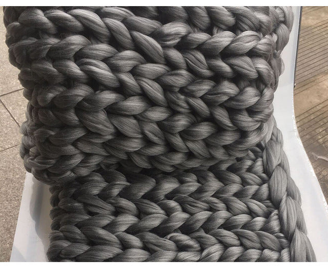 83e2b8a175 Chunky Grey Blanket  OX37 – Advancedmassagebysara