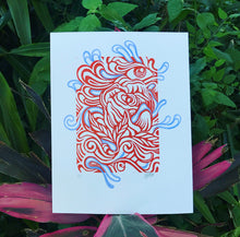LE 10 RED ROSE BLOCK PRINT