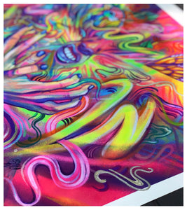 *PRESALE* FLOW IS FEROCIOUS 16x20 HAND-EMBELLISH PRINT