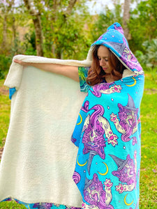 WITCH KITTY HOODIE BLANKET