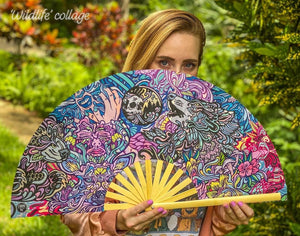 LARGE HAND FANS (WITCHES & WILDLIFE)
