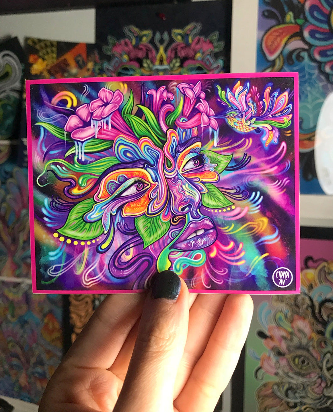 ULTRAVIOLET VIBRATIONS STICKER