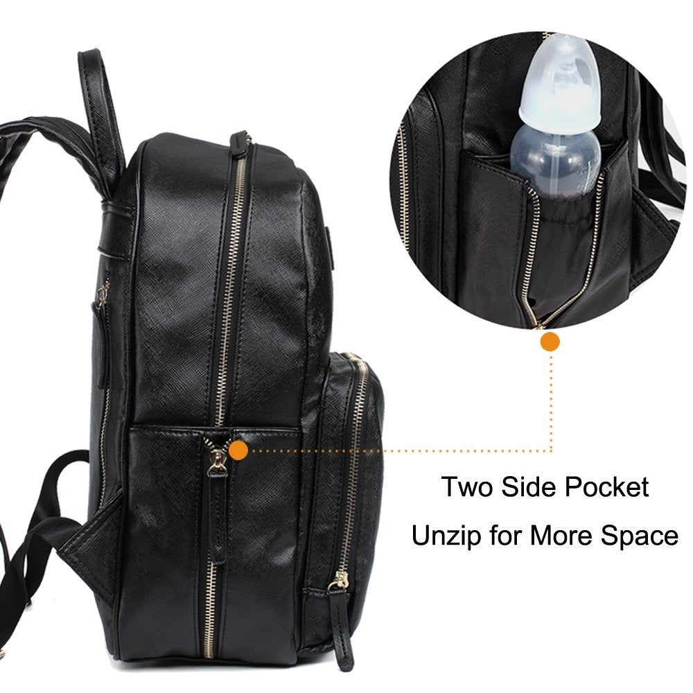 Two Side Pocket Can Be Unzipped for More Space