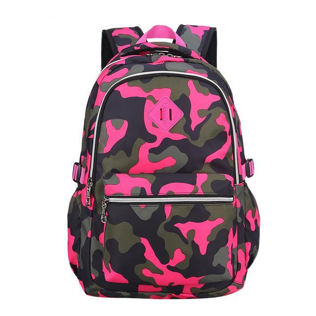 Camouflage School Backpacks for Boys Teenagers Girls