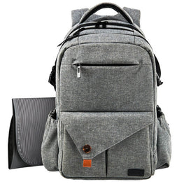 Gray Large Capacity Baby Diaper Bag