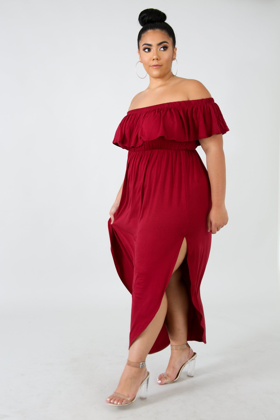 Dress - Elegant Summer Frills (Red)