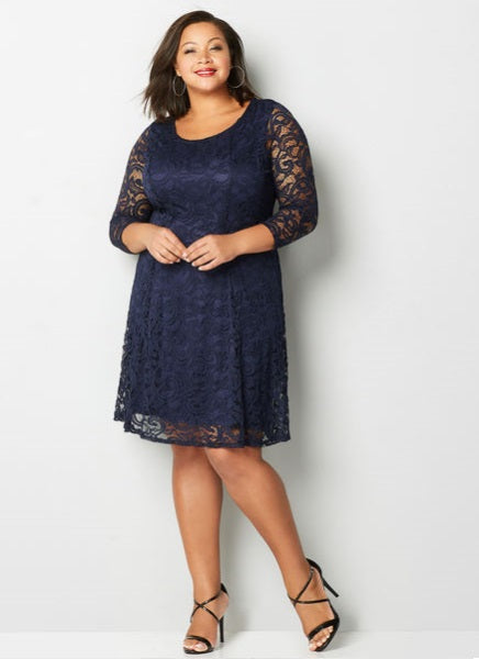 dress - Navy Blue Lace
