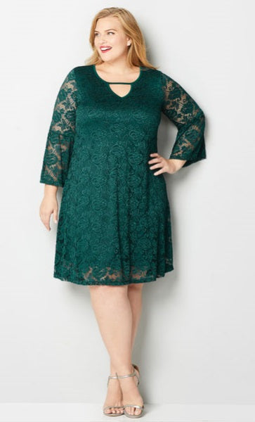 Dress -  Forrest Green Lace