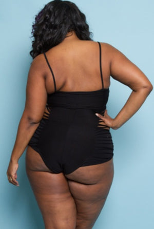 Bodysuit - Black Ripples