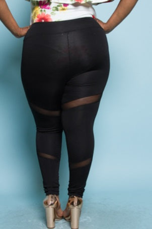 Leggings with Mesh