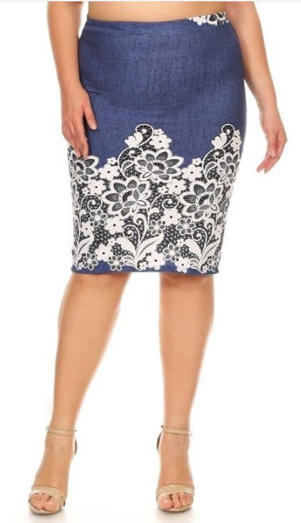 Skirt - White Embroidery