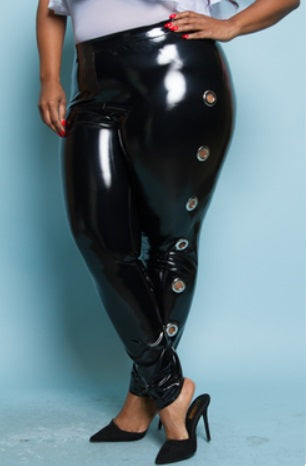 Leggings - PVC Pants with Holes