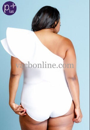 Bodysuit -Sexy Cascade One Shoulder