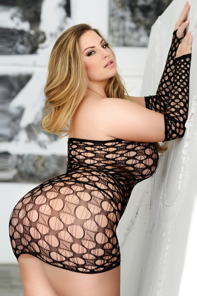 Lingerie - Curvy & Flirty Body Stocking- Queen Size - 6