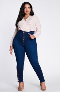 Jeans - High Waist Denim