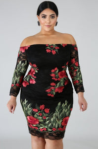 Dress - Embroidered Rose Dress