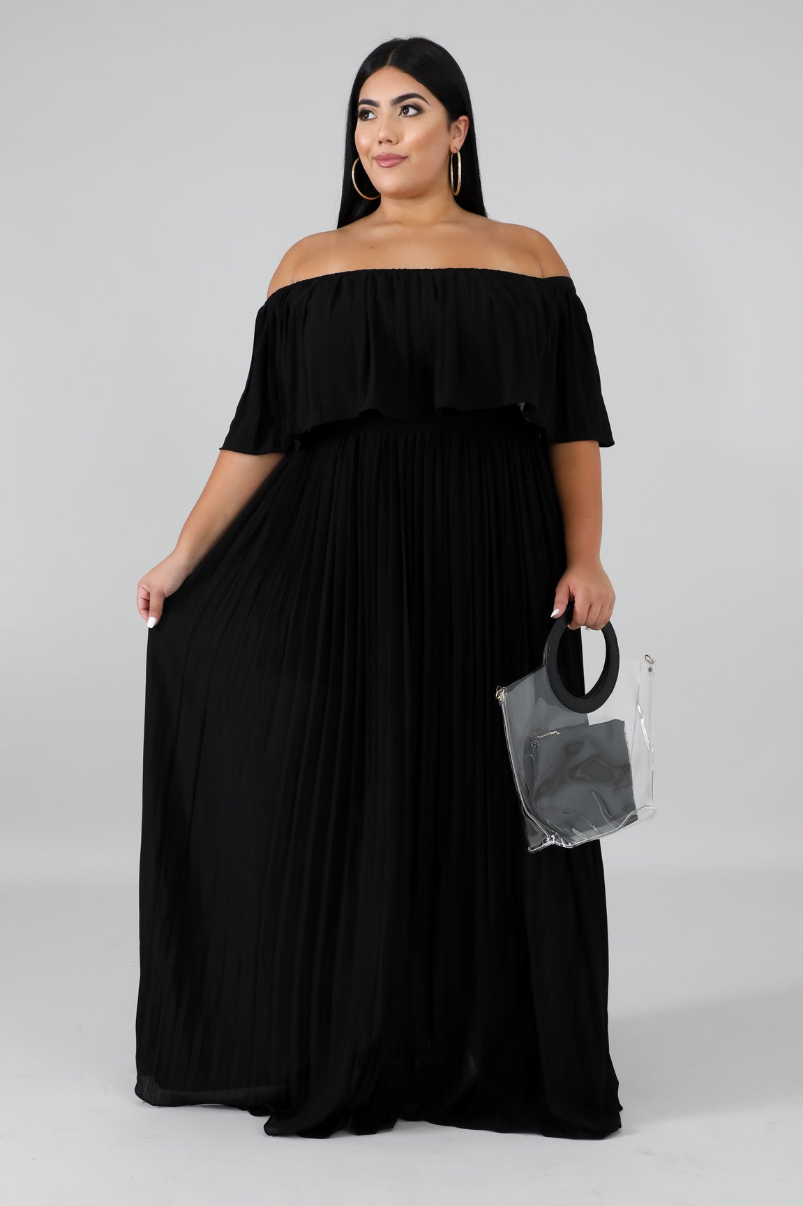 Dress - Ripples (Black)