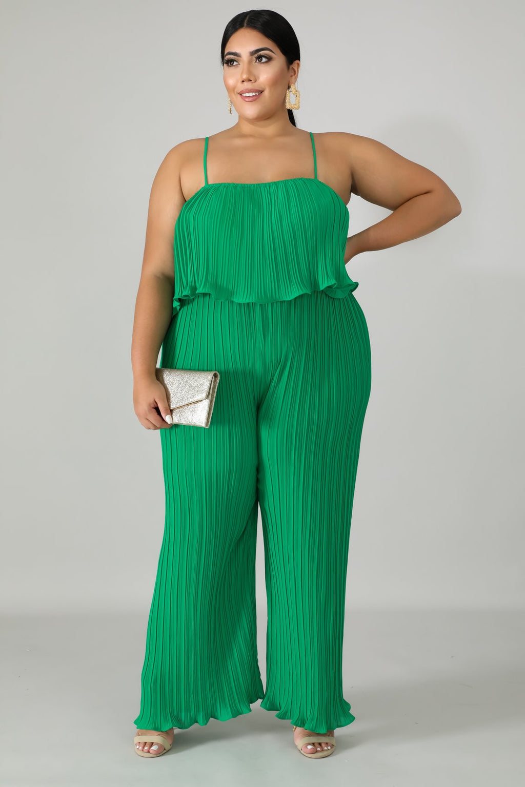 Jumper - Pleated  (Green)
