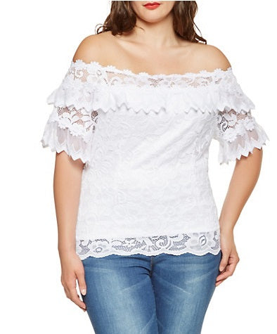 Blouse -Off the Shoulder Lace