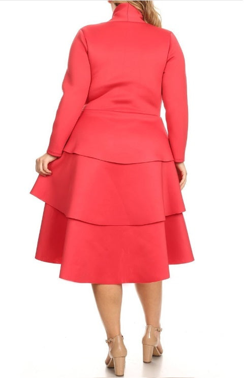 Dress - Tulips (Coral)