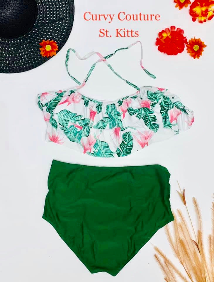 Swimwear - Palm Tree Blossom   (Please see measurements below)