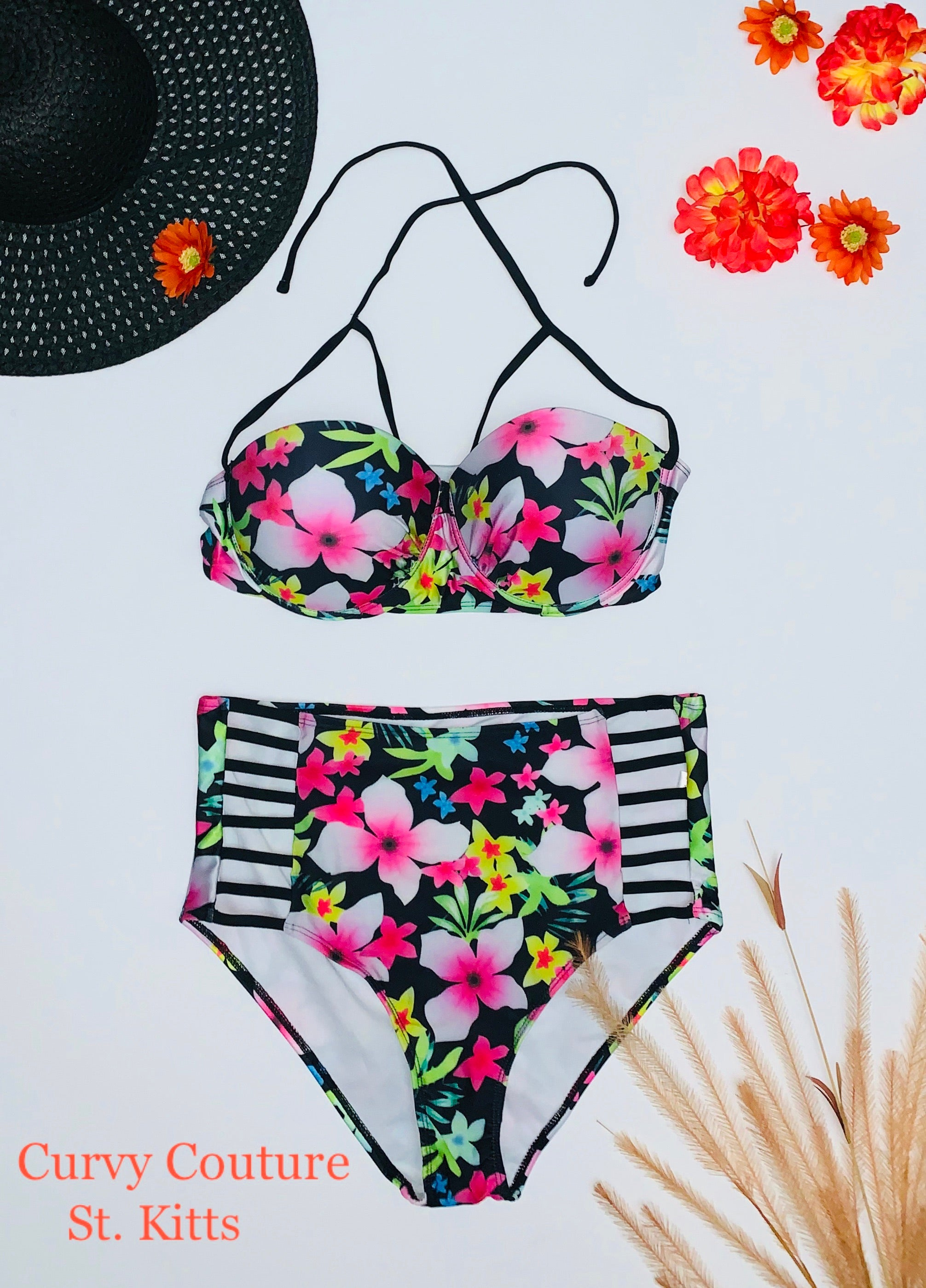 Swimwear -Pink Paradise  (Please see measurements below)
