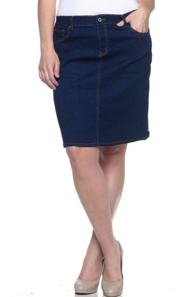 Jean Skirt - Dark Blue