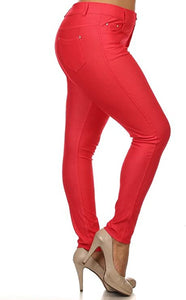 Jeans -Red Jeggings