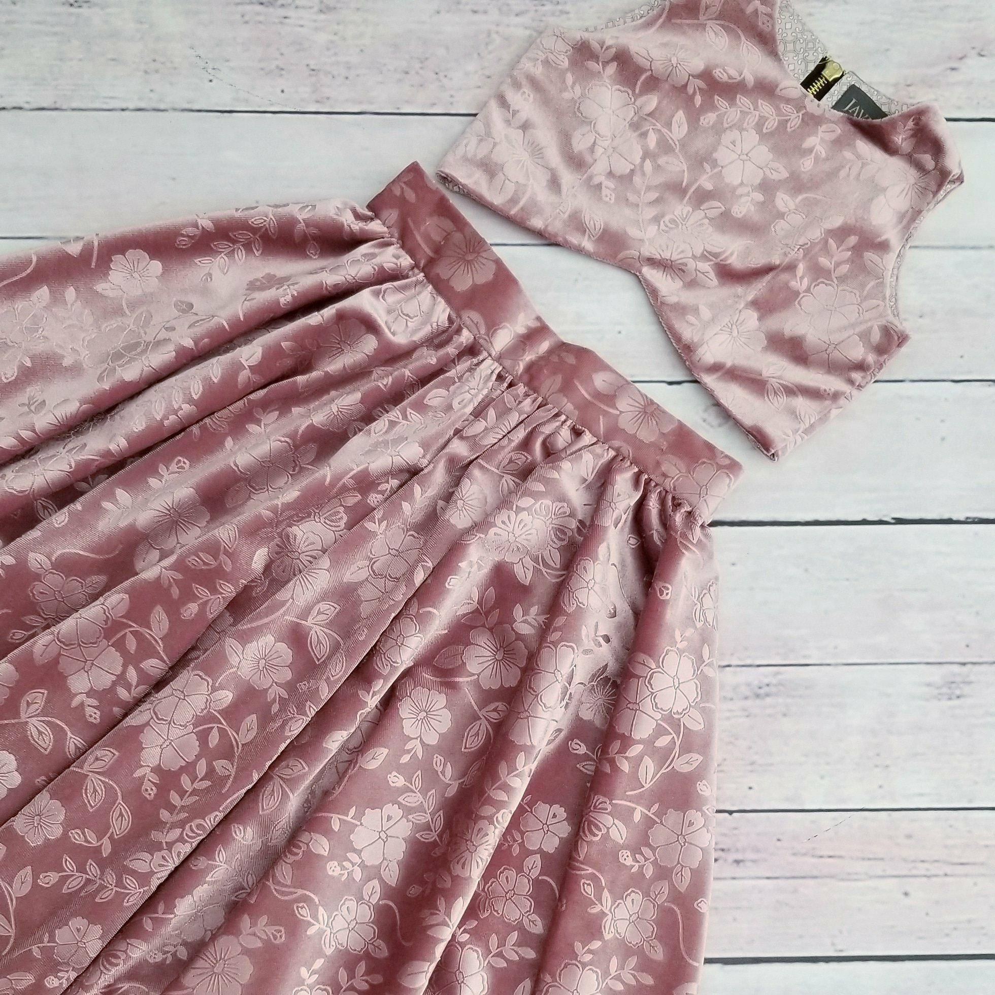 Dusty Rose Chenille Skirt & Top