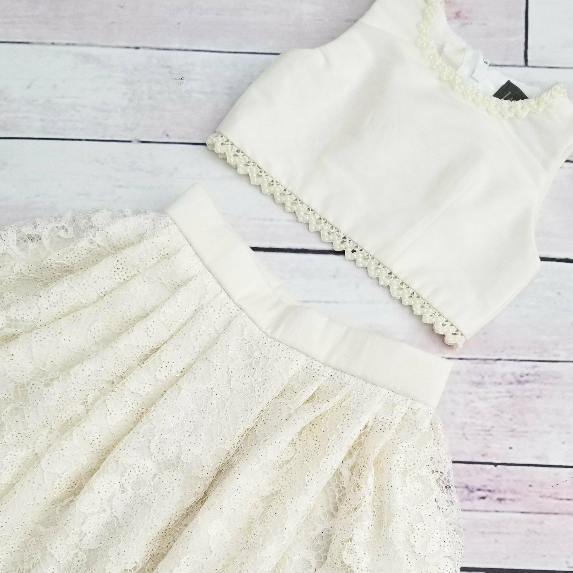 Ivory Tuscan Lace Skirt & Top