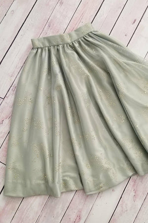 Sage Gold Twinkle Skirt