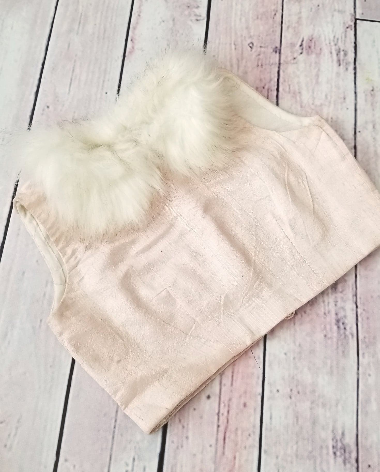 Fur Collar Top
