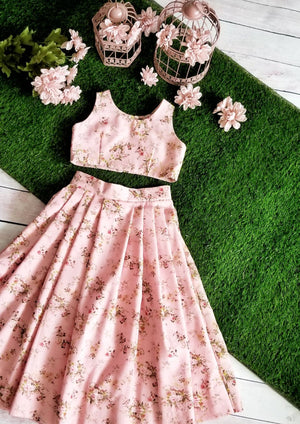 Secret Garden Pink Floret Skirt&Top